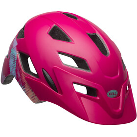Bell Sidetrack Helmet Youth green ridgeline matte berry